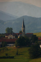 A Bavarian Church Taken from Above