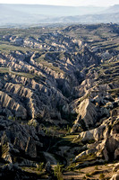 A Valley in Cappadocia from Above