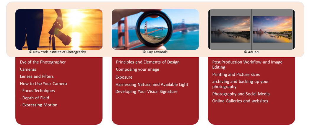 Photography 101 Master Course Outline